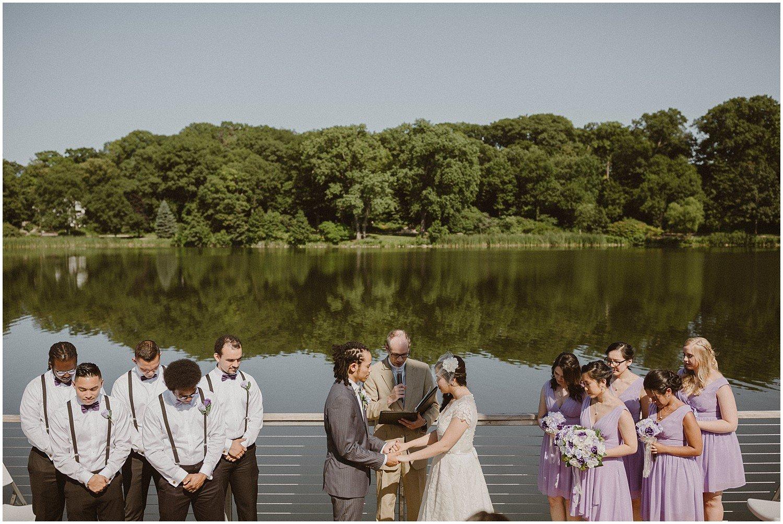 Chicago Summer Lake Ellyn Boathouse Wedding