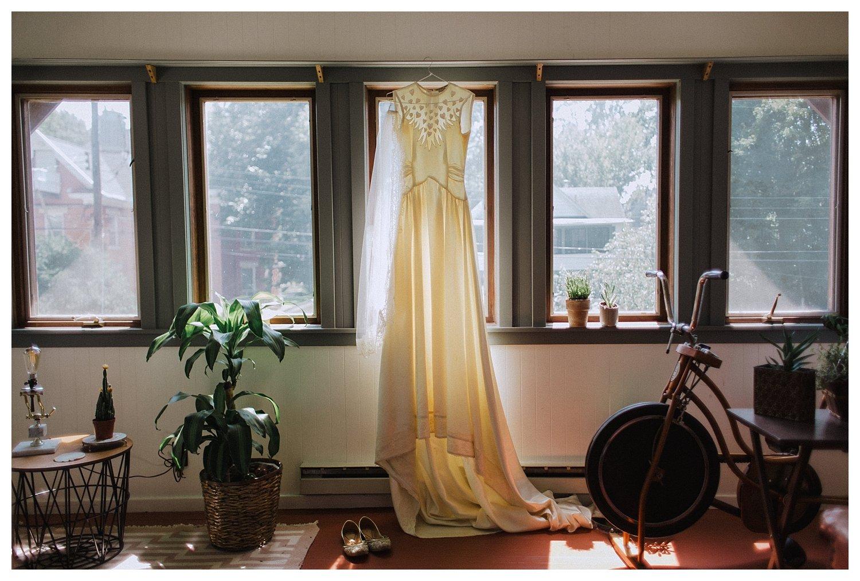 Champaign Urbana Wedding Dress Hanging