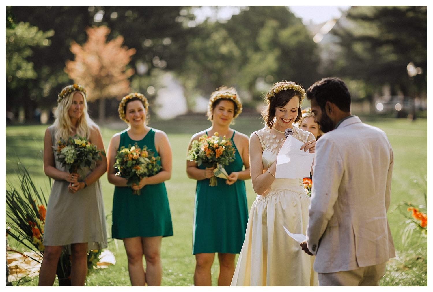 Champaign wedding vows