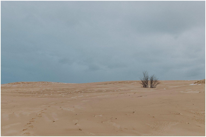 desert inspired elopement michigan sand dunes