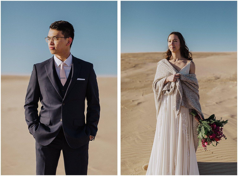 desert inspired elopement couple
