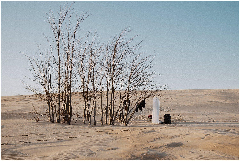 desert inspired elopement