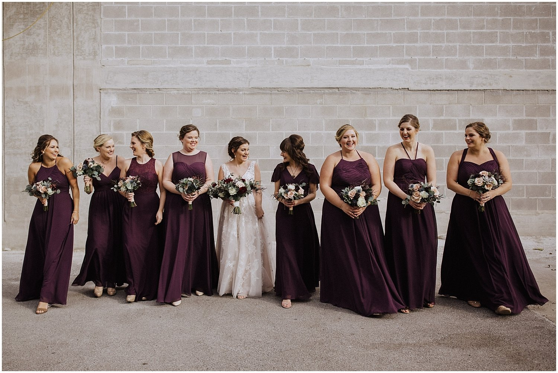 bridesmaids walking together