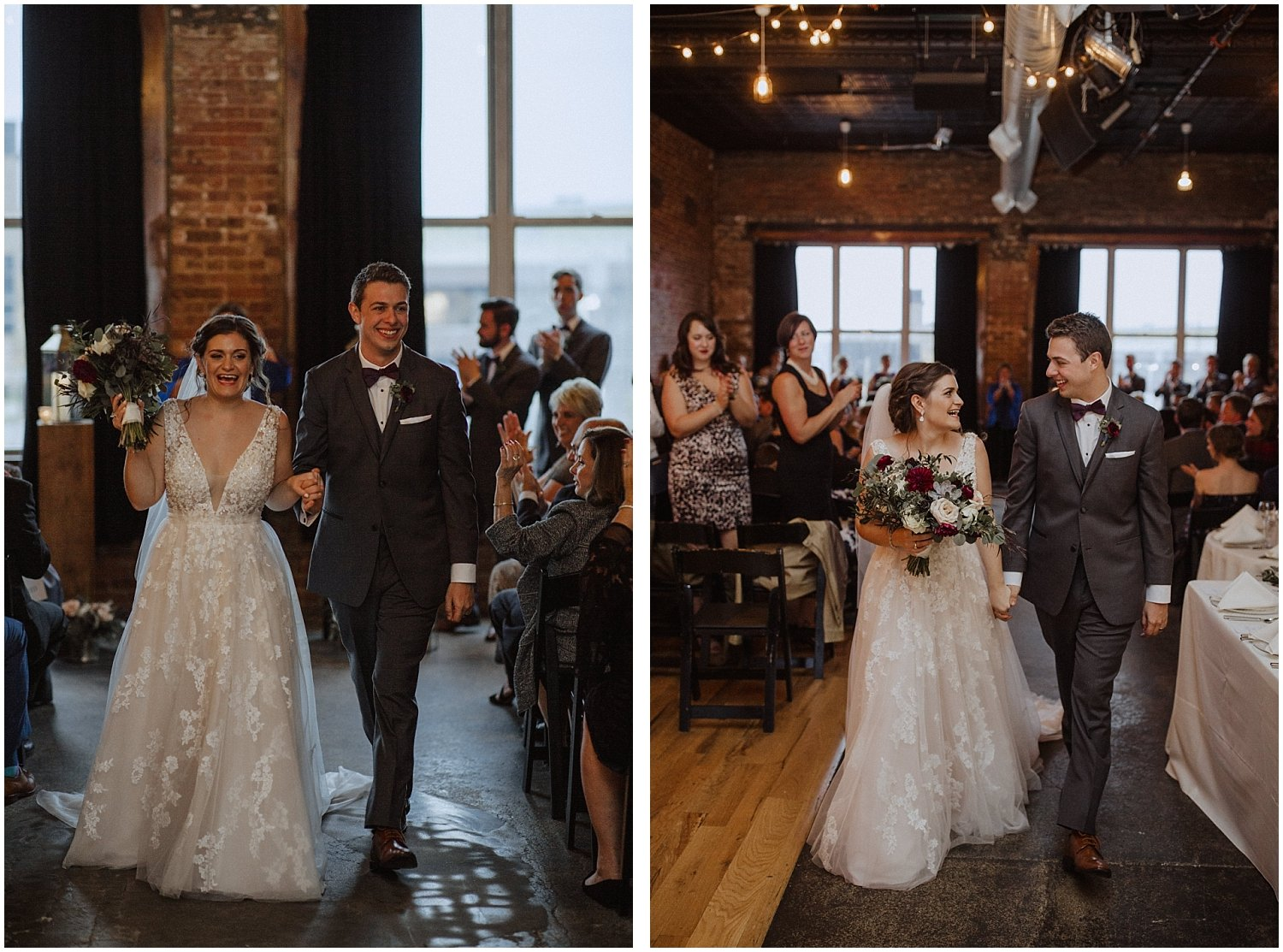 bride and groom leaving the ceremony