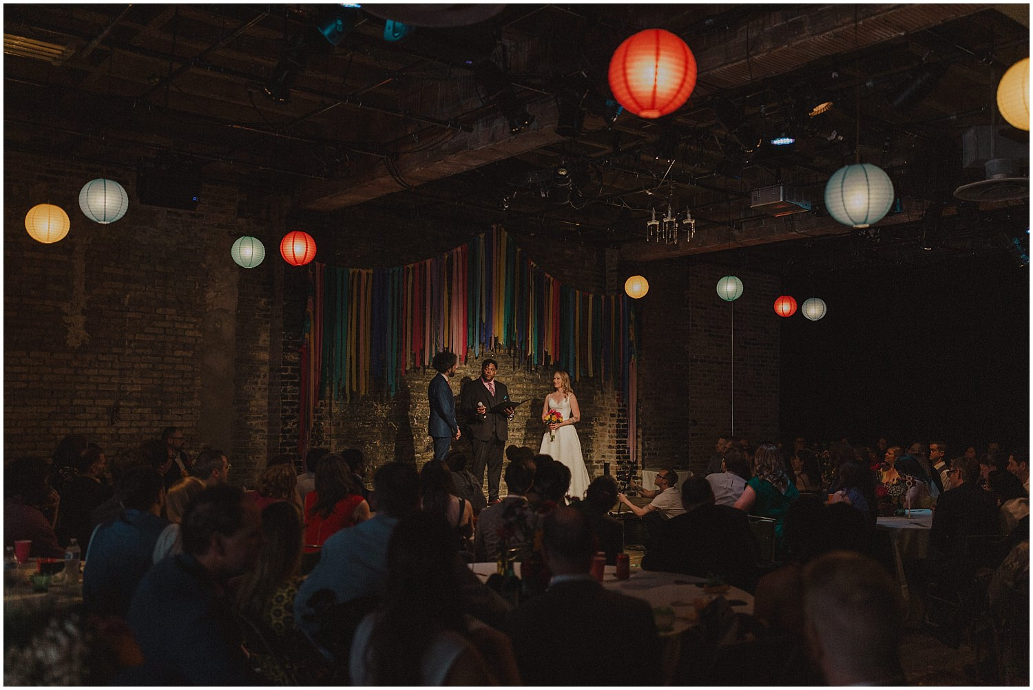 Intimate Filament Theater Chicago Wedding Ceremony