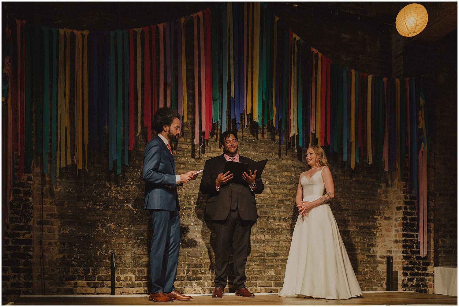 Intimate Filament Theater Chicago Wedding Vows Exchanged