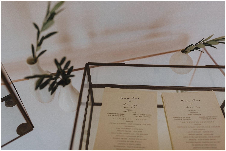 wedding invitations and programs Chicago wedding photographer kyle szeto