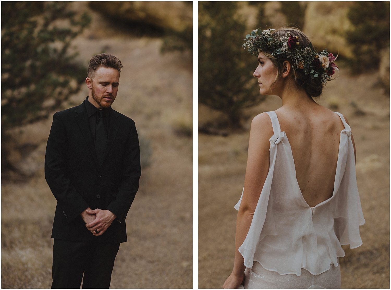 wedding couple standing side by side oregon elopement and wedding photographer kyle szeto