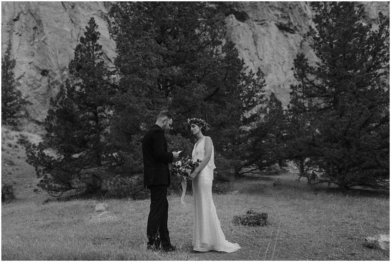 groom reading his vows oregon elopement and wedding photographer kyle szeto