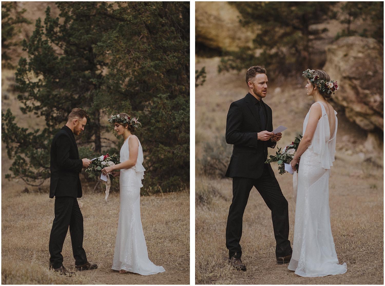 bride reading her vows oregon elopement and wedding photographer kyle szeto