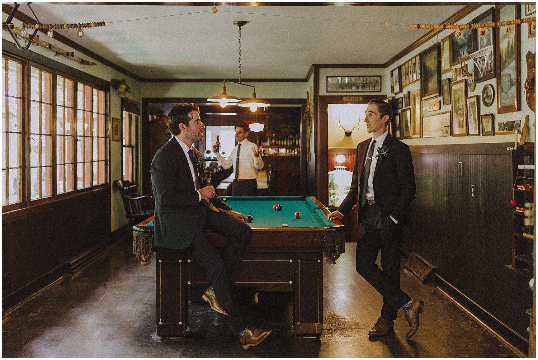 groomsmen talking wisconsin wedding elopement photographer kyle szeto