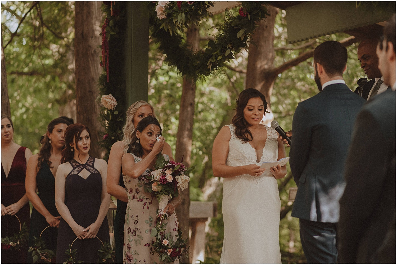 bride saying her vows wisconsin wedding elopement photographer kyle szeto