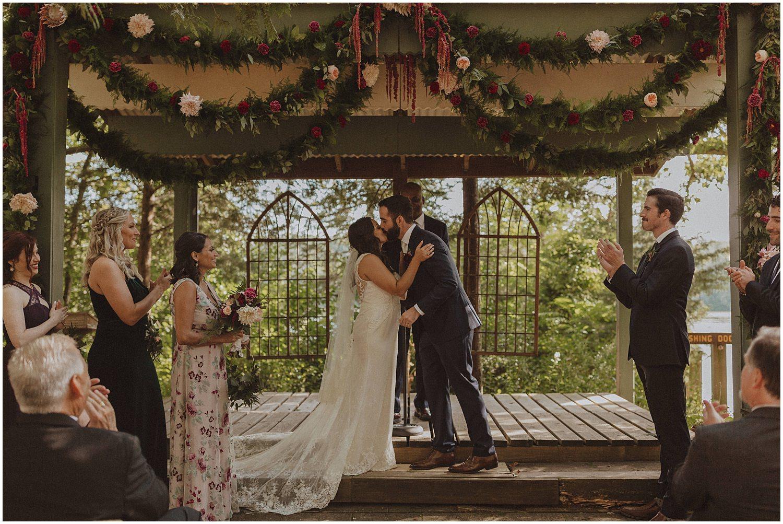 camp wandawega first kiss wisconsin wedding elopement photographer kyle szeto