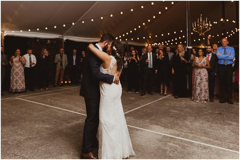 couple having first dance wisconsin wedding elopement photographer kyle szeto