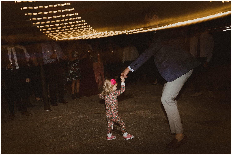 little girl dancing wisconsin wedding elopement photographer kyle szeto